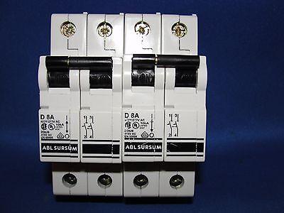 Ablsursum Altech Corp Circuit Breaker D 8a 2du8 415v Ac En60898 Lot Of 2