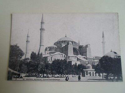 CONSTANTINOPLE St Sophie Mosque   No 110  Vintage Postcard  §A2154