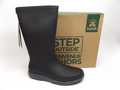 Kamik Women's Jessie Rain Boot, Charcoal Black, SZ 40 US 9.0 M NEW DISPLAY D9033