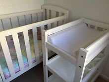 GroTime Cot + Matching Change Table Woonona Wollongong Area Preview