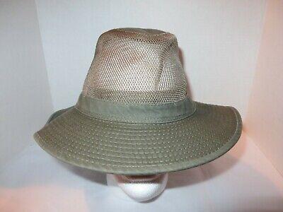 26257689844 Dorfman Pacific Company Outback Fedora Hiking Fishing Hat Khaki Adult Large  Mesh