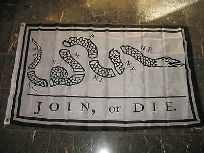 Wholesale Lot 20 3x5 Join or Die Benjamin Franklin Snake White Flag 3'x5'