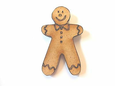 10x WOODEN GINGERBREAD MAN SHAPES gift tag craft card scrapbook embellishment](Gingerbread Man Craft)