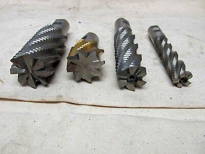 Lot Of 4 Assortedcobalt 1.00 Shank Various Flutes End Mills