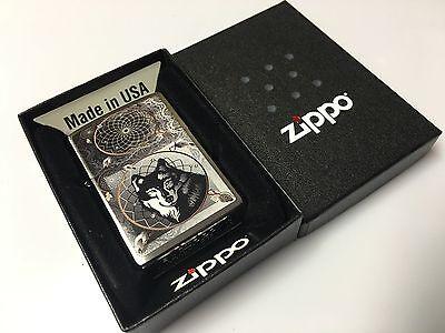 New Wolf Dream Catcher Zippo Lighter RARE