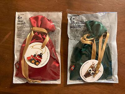 Lego 5005253 Reindeer 2018 / 5002813 Train Promo Christmas Tree Ornaments NEW