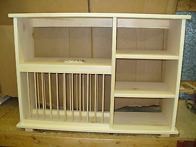NEW Triple shelf wood plate dish rack ...