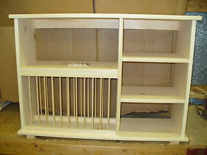 wooden plate racks for kitchen cabinets new shelf wood plate dish rack glasses spices 29479
