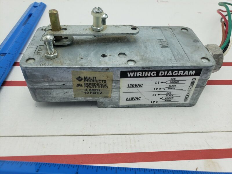 Multi Products TB2001 Actuator for Dampers 120VAC UL19J 3411
