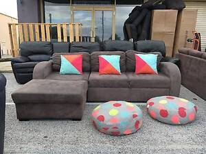 TODAY DELIVERY MODERN CHOCOLATE L corner SOFA BED lounge FOR SALE Belmont Belmont Area Preview