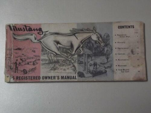 1965 MUSTANG REGISTERED OWNER