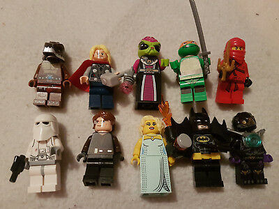 Lego Mini Figures genuine Job Lot 10 mixed minifigures
