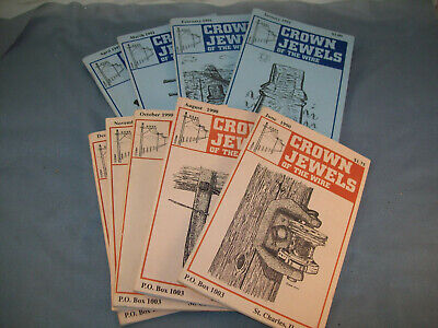 Vintage 9 issues Crown Jewels of the Wire Insulator Magazines 1990-1991