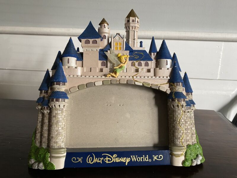 Disney Castle 3D Figural Picture Frame Magic with Tinker Bell