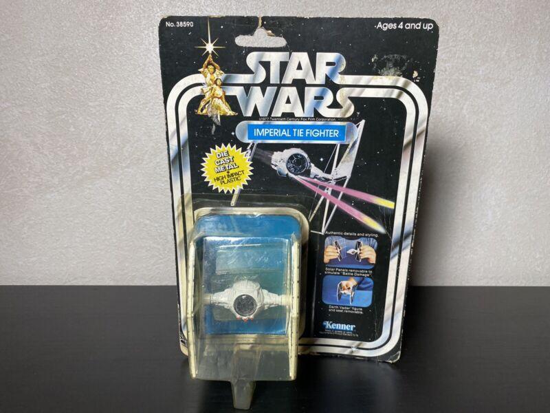 VINTAGE 1978 Kenner Star Wars Imperial Tie Fighter Diecast MOC 21 Back Die Cast