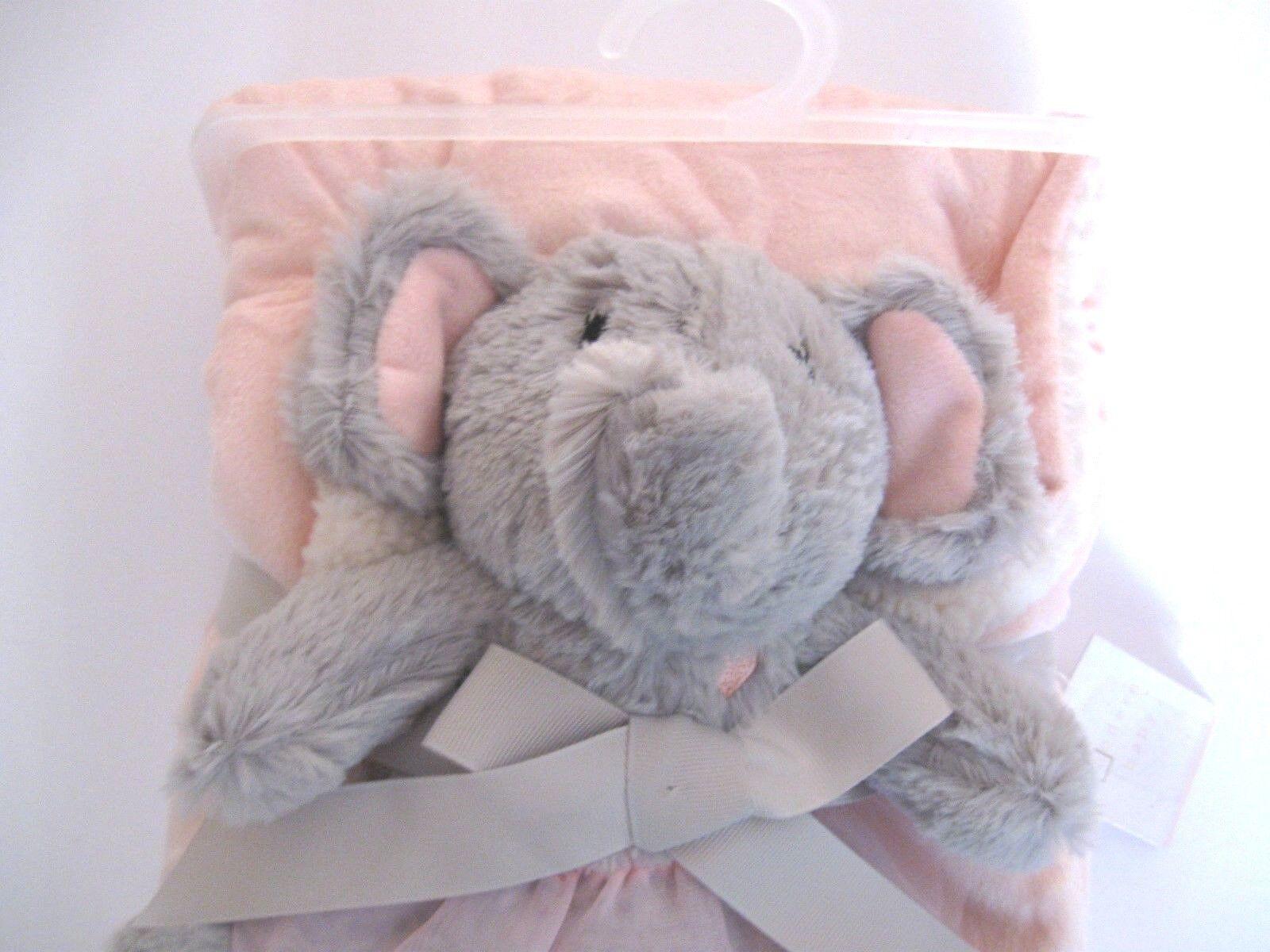 Modern Baby New Plush Blanket Set Elephant Toy Sherpa Revers