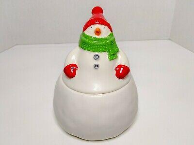 HALLMARK Snowman Cookie Jar Ceramic Collectible JOLLY SNOWBALL Vintage Christmas
