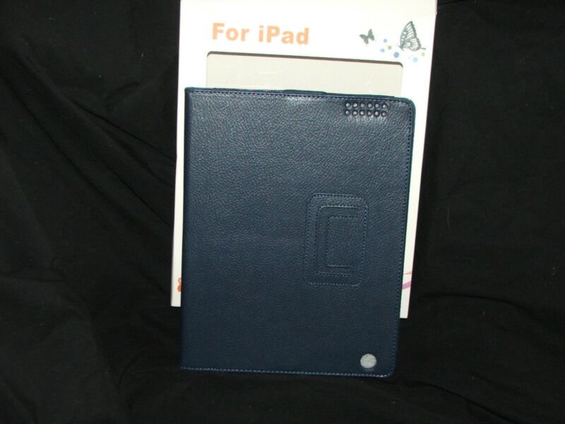 iPad 3  Leather Case, navy, new in box,  For Apple and Generic
