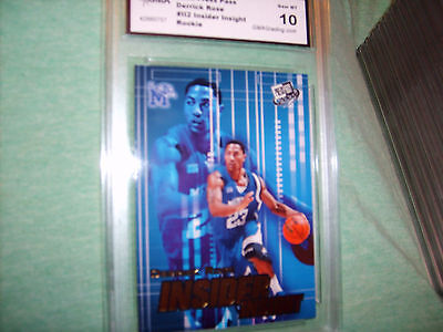 Derrick Rose Graded Rookie   Gem Mint 10   2008 09 Press Pass  Ii2 Bulls Mvp  3
