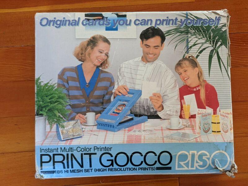 RISO PRINT GOCCO B6 Hi Mesh Set Screen Printing Kit + Ink Bulbs Screens More
