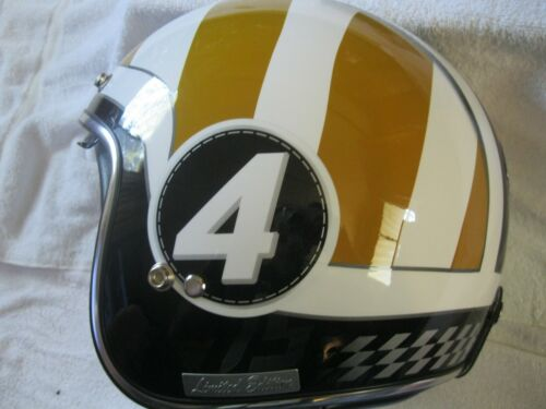 SUPER RARE Black Judge Gold, Limited Edition 178 Of 250 Racing Helmet, SZ M