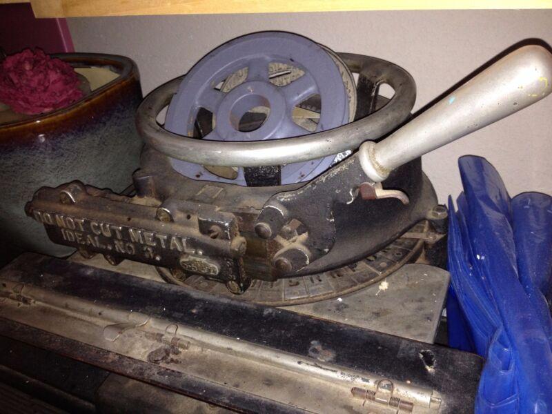 Antique Ideal No. 3 Stencil Machine USA Working 1920