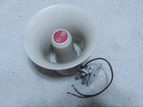 Vintage Loud Speaker Fire Horn, NEW, Atlas SC-15, 8 Ohm, 15 Watts, Beige