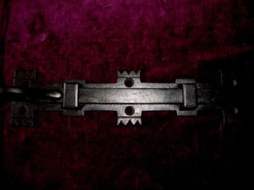 Antique cast iron Gothic ecclesiastical sprung security door bolt