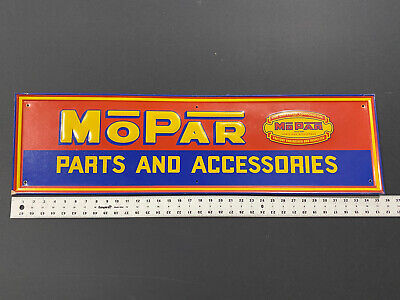 "Vintage 1950's 60's Mopar Sign Parts Accessories Tin Sign 36"" Dodge Chrysler"