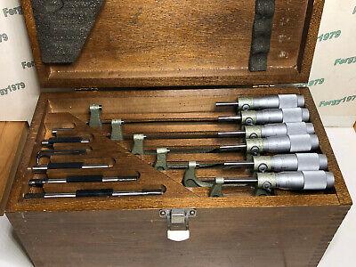 Vis Poland 0-6 Micrometer Set Carbide Anvils Friction 0.0001 Vis Branded