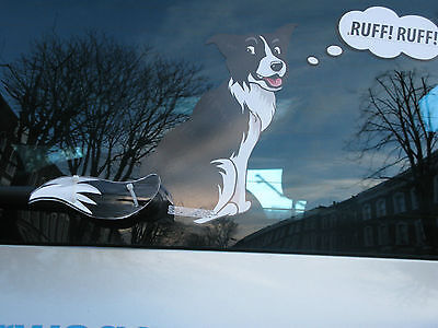 BORDER COLLIE DOG LOVER NOVELTY GIFT COLLECTABLE FOR YOUR CAR REAR WINDSCREEN