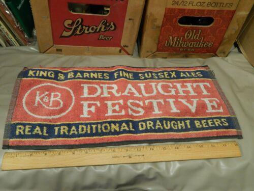 King & Barnes ~ Fine Sussex Ales ~ Draught Festive > BEER TOWEL < Bar_Tavern_Pub