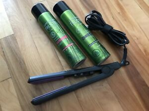Hair straightener + hairspray