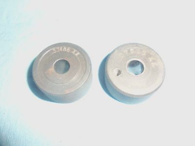 2pcs 38 Under Over Size Ring Gages .37515 .37486 Aluminum Machine Shop Tools