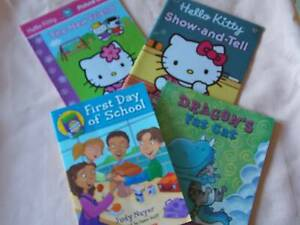 4 x Books for young readers: Hello Kitty, Dragon's Fat Cat etc Parkinson Brisbane South West Preview