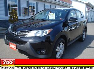 2015 Toyota RAV4 $21595.00 financed price - 0 down payment* LE