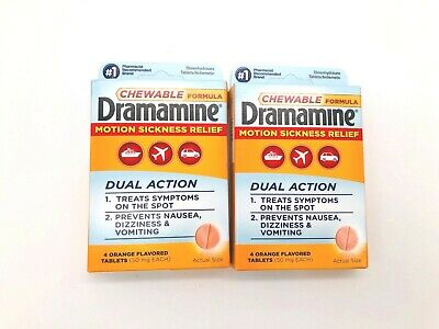 Dramamine Motion Sickness Relief - Orange Flavor Chewable Formula - 8 Tablets