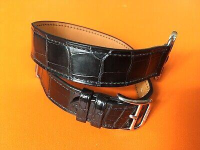 Hermes Paris Alligator Apple Watch Band Double Tour Hermès Strap for 38 & 40 mm