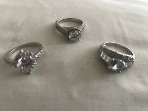Three Laconian and sterling silver rings size 7