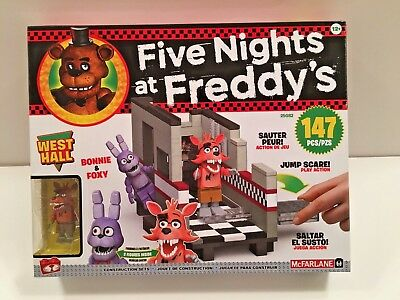 Five Nights at Freddy's EXCLUSIVE WEST HALL CONSTRUCTION SET FNAF LEGO McFarlane (Five Freddy's At Night)
