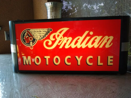 Indian Motorcycle Art Deco Lighted Sign