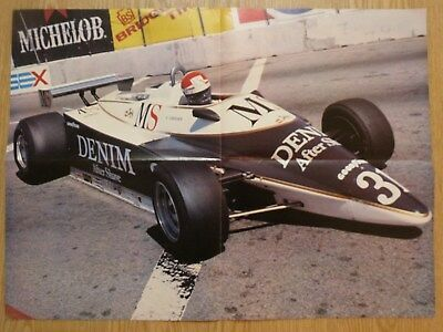 1981 Eddie Cheever (USA) Formula 1 Grand Prix Poster