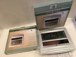 Lot Of 2 Howard Miller 625608 Radio-Controlled LCD NIST Clock