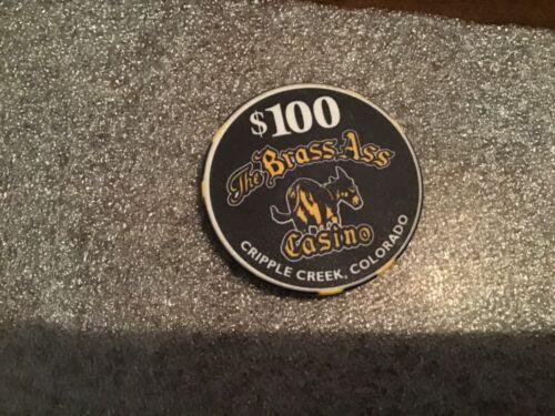 Brass Ass Casino, Cripple Creek CO rare $100 limited ed millenium casino chip