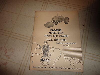 Case 291a Front End Loader Parts Catalog Manual