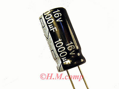 16V 1000uF 105°C electrolytic radial Capacitor X4pcs D