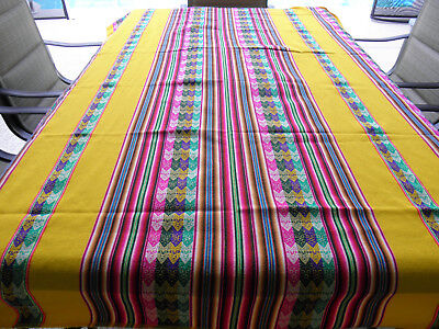 New From Puno Peru Andean Inca Cotton Table Cloth Table Cover 80x47