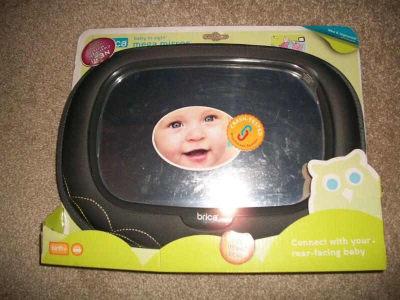 NEW BRICA BABY-IN-SIGHT MEGA CAR MIRROR