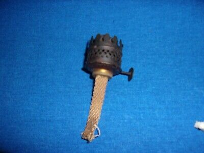 ANTIQUE VICTORIAN BRASS MINIATURE KEROSENE LANTERN OIL LAMP P&A BURNER PART
