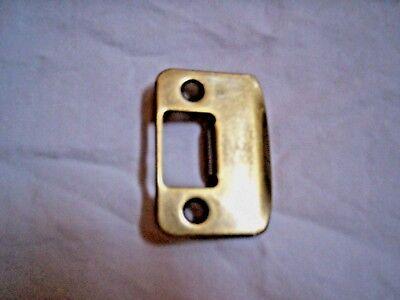 Door Handle Strike Plate 2.1/4 Tall x 1.5/8 Wide, Round Corner, Antique Brass